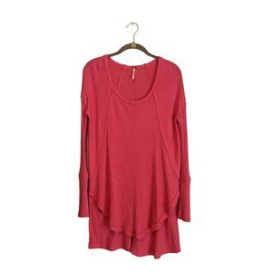Free People Catalina Pink Long Sleeve Thermal Top